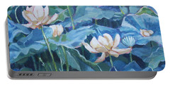 Water Lilies Two Portable Battery Charger by Jan Bennicoff