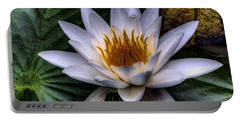 Water Lily Portable Battery Charger by David Patterson