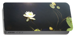 Water Lily Portable Battery Charger by Laurel Best