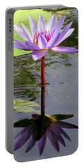 Water Lily - Shaded Portable Battery Charger by Pamela Critchlow