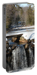Portable Battery Charger featuring the photograph Water Over The Dam by Mim White