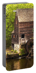 Portable Battery Charger featuring the photograph Water Wheel At Philipsburg Manor Mill House by Jerry Cowart