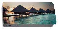 Waterbungalows At Sunset Portable Battery Charger