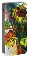 Sunflowers On The Rise Portable Battery Charger