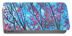 Portable Battery Charger featuring the photograph Watercolor Autumn Trees by Tikvah's Hope