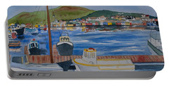 Watercolor - Dingle Ireland Portable Battery Charger
