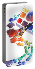 Watercolor Footprints Portable Battery Charger