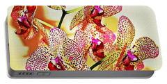 Portable Battery Charger featuring the photograph Watercolor Orchid Shadows by Judy Palkimas