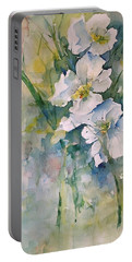 Watercolor Wild Flowers Portable Battery Charger