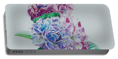 Watercolored Hydrangea Portable Battery Charger