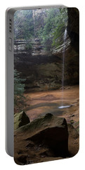 Waterfall At Ash Cave Portable Battery Charger by Dale Kincaid