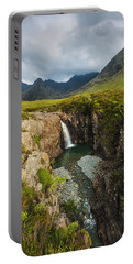 Waterfall In Coire Na Creiche The Fairy Portable Battery Charger