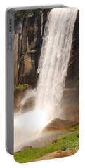 Waterfall Rainbow Portable Battery Charger by Mary Carol Story