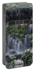 Portable Battery Charger featuring the painting Waterfall by Sergey Lukashin