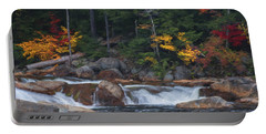 Waterfall - White Mountains - New Hampshire Portable Battery Charger by Jean-Pierre Ducondi