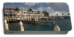 Waterfront Key West Portable Battery Charger by Christiane Schulze Art And Photography