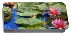 Waterlilies From Giverny Portable Battery Charger by Dragica  Micki Fortuna