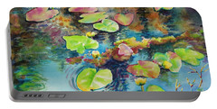Waterlilies In Shadow Portable Battery Charger