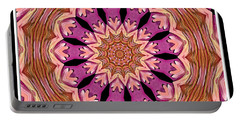 Portable Battery Charger featuring the photograph Waterlily Flower Kaleidoscope 2 by Rose Santuci-Sofranko