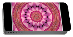 Portable Battery Charger featuring the photograph Waterlily Flower Kaleidoscope 3 by Rose Santuci-Sofranko