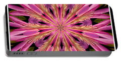 Portable Battery Charger featuring the photograph Waterlily Flower Kaleidoscope 4 by Rose Santuci-Sofranko