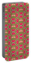 Watermelon Flamingo Print Portable Battery Charger by Susan Claire