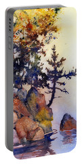 Water's Edge Portable Battery Charger by Teresa Ascone