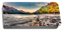 Waterton Lake In Autumn Colours Portable Battery Charger