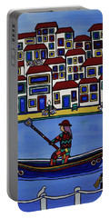 Watery Venice Portable Battery Charger by Barbara St Jean