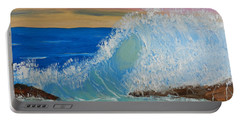 Wave At Sunrise Portable Battery Charger