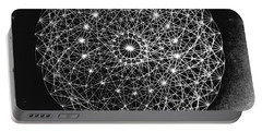 Wave Particle Duality Black White Portable Battery Charger