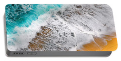 Waves Abstract Portable Battery Charger