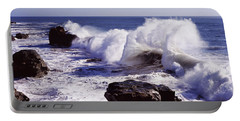Waves Breaking On The Coast, Santa Portable Battery Charger
