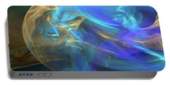 Portable Battery Charger featuring the digital art Waves Of Grace by Margie Chapman