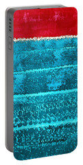 Waves Original Painting Portable Battery Charger by Sol Luckman