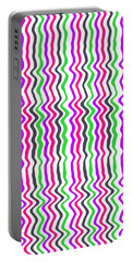 Wavy Stripe Portable Battery Charger