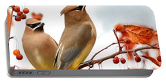 Beautiful Waxwing  Portable Battery Charger by Nava Thompson