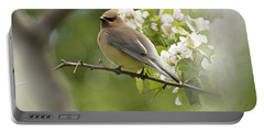 Waxwing In A Dream Portable Battery Charger