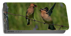 Waxwing Love.. Portable Battery Charger