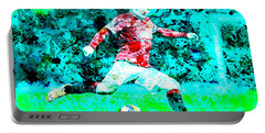 Wayne Rooney Splats Portable Battery Charger by Brian Reaves