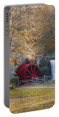 Wayside Inn Grist Mill Portable Battery Charger by Jean-Pierre Ducondi