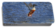 Portable Battery Charger featuring the photograph We Have Liftoff by Gary Holmes