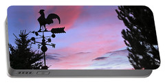 Weather Vane Sunset Portable Battery Charger by Phyllis Kaltenbach