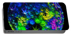 Weed Planet Full Of Cannabis Plants Portable Battery Charger