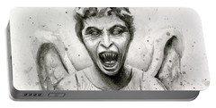 Weeping Angel Watercolor - Don't Blink Portable Battery Charger