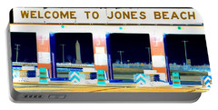 Welcome To Jones Beach Portable Battery Charger by Ed Weidman