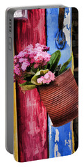 Welcoming Flowers Portable Battery Charger by Gary Slawsky