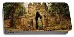 West Gate To Angkor Thom Portable Battery Charger