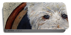 West Highland Terrier Dog Portrait Portable Battery Charger