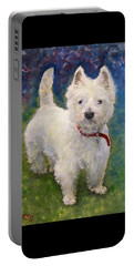 West Highland Terrier Holly Portable Battery Charger by Richard James Digance